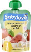 babylove Quetschbeutel Wassermelone & Banane in Apfel ab 1 Jahr