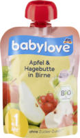babylove Quetschbeutel Apfel & Hagebutte in Birne ab 1 Jahr