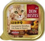 BBQ Nassfutter für Katzen, marinierte Streifen mit Pute, in Sauce