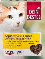 Dein Bestes Trockenfutter für Katzen, Knuspermix mit Frischgeflügel, Ente & Huhn