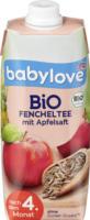 Bio Fencheltee mit Apfelsaft nach dem 4. Monat