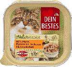 Naturverliebt Nassfutter für Katzen, mit 60% Huhn, Pastete mit leckeren Filetstückchen