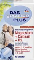 DAS gesunde PLUS Magnesium + Calcium + D3 Tabletten