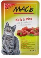 Katzen - MAC's Kalb und Rind mit Cranberry