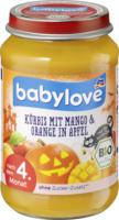 babylove Frucht & Gemüse Kürbis mit Mango & Orange in Apfel nach dem 4. Monat