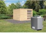 Karibu Saunahaus Cuben, 38 mm, Ofen 9 kW, integrierte Steuerung