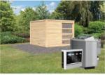 Karibu Saunahaus Cuben, 38 mm, Ofen 9 kW, bio, externe Steuerung