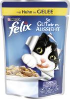 Felix Nassfutter für Katzen, So gut wie es aussieht, Huhn in Gelee