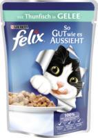 Felix Nassfutter für Katzen, So gut wie es aussieht, Thunfisch in Gelee