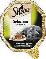 Sheba Nassfutter für Katzen Selection in Sauce mit Kaninchenhäppchen