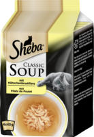 Sheba Nassfutter für Katzen Classic Soup Hühnchenbrustfilet Multipack 4x40g