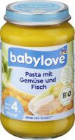 babylove Babymenü Pasta mit Gemüse & Fisch nach dem 4. Monat