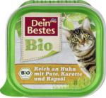 Dein Bestes Bio Nassfutter für Katzen, reich an Huhn mit Pute, Karotte und Rapsöl