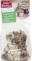 Dein Bestes Genießervielfalt getreidefreier Snack für Nager & Zwergkaninchen, Knabber- Rolle mit Wildrosenblüten, Kräutern & Kornblumenblüten, 1 St