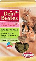 Dein Bestes Herzklopfen, Snack für Nager & Zwergkaninchen, Knabber-Snack reich an Allgäuer Bergwiesenkräutern & mit Luzerne