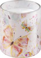 Profissimo Kerze im Motivglas Schmetterlinge