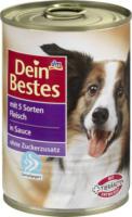 Dein Bestes Nassfutter für Hunde mit 5 Sorten Fleisch, in Sauce