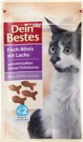Dein Bestes Snack für Katzen, Fisch-Minis mit Lachs & wertvollen Omega-Fettsäuren