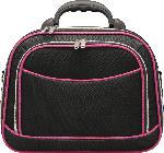 Soapland Kosmetikkoffer, schwarz mit pinker Paspelierung