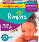 Pampers Windeln Active Fit Größe 5+ Junior Plus, 13-25 kg, Jumbo+ Pack