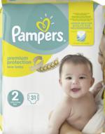 Pampers Windeln premium protection New Baby, Größe 2 Mini, 3-6 kg