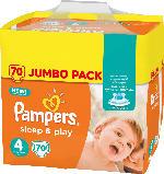 Pampers Windeln Sleep & Play, Größe 4 Maxi, 8-16kg, Jumbo Pack
