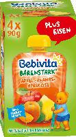 Bebivita Quetschbeutel Bärenstark Apfel-Ananas-Aprikose  ab 1 Jahr, 4x90g