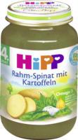 Hipp Gemüse Rahm-Spinat in Kartoffeln nach dem 4. Monat