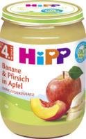 Hipp Früchte Banane & Pfirsich in Apfel nach dem 4. Monat