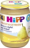 Hipp Frucht & Getreide Birne in Apfel mit Dinkel nach dem 4. Monat
