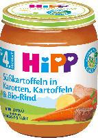 Hipp Babymenü Süßkartoffeln in Karotten, Kartoffeln & Bio-Rind nach dem 4. Monat