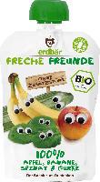 erdbär Freche Freunde Quetschbeutel 100% Apfel, Banane, Spinat & Gurke ab 1 Jahr