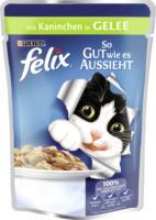 Felix Nassfutter für Katzen, So gut wie es aussieht, Kaninchen in Gelee