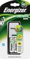 Energizer Mini Ladegerät inklusive zwei Mignon AA 2000 mAh Akkus