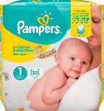 Pampers Windeln premium protection New Baby, Größe 1 New Born, 2-5 kg