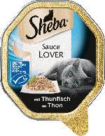 Sheba Nassfutter für Katzen, Sauce Lover mit Thunfisch MSC