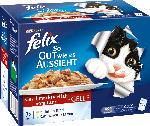 Felix Nassfutter für Katzen, So gut wie es aussieht, Fleisch mit Huhn, Rind, Lamm & Kaninchen in Gelee, Multipack 12x100g