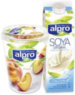 alpro Soya Drink oder vegane Alternativen versch. Sorten, jede 1-Liter/500-g-Packung