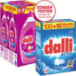 dalli Waschmittel Pulver 100/100 + 10 Waschladungen gratis, versch. Sorten, jede Packung