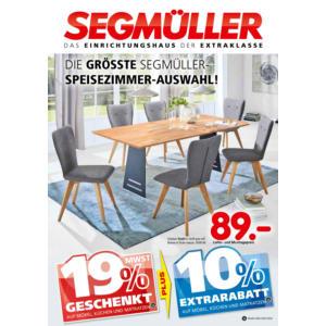 Die größte Segmüller-Speisezimmer-Auswahl! Prospekt Mannheim