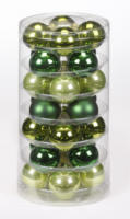 Weihnachtskugeln Grün-Mix, aus Glas