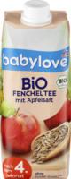 babylove Bio Fencheltee mit Apfelsaft nach dem 4. Monat