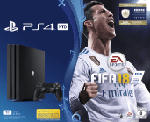 PlayStation 4 Konsolen - SONY PlayStation 4 Pro 1 TB Schwarz + FIFA 18 + PS Plus 14 Tage