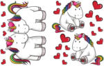 Sticker Einhorn Herz
