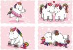 Sticker Einhorn rosa