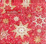Profissimo Cocktailservietten Weihnachten 25x25 Sterne rot