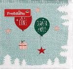 Profissimo Servietten Weihnachten 33x33 Erst eins, dann zwei,...