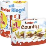 Ferrero Duplo, Kinder Riegel, Hanuta 10er oder Kinder Country 9er + 1 Riegel gratis jede 200/231/242/235-g-Packung