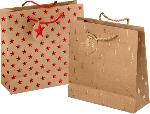 Profissimo Geschenktüte Weihnachten quadratisch Tannenbäume oder Sterne