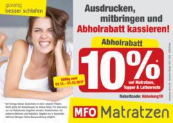 10% auf Matratzen, Topper & Lattenroste